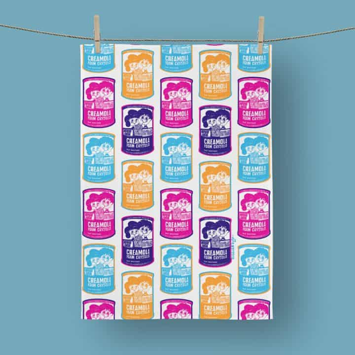 Creamola Foam tea towel by Gillian Kyle