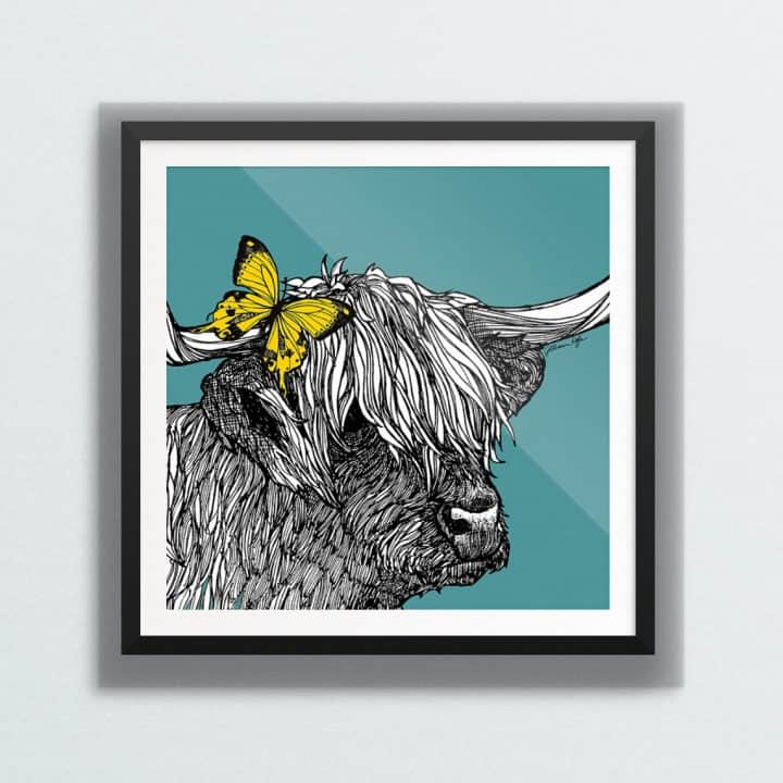 Highland Cow wall art by Gillian Kyle
