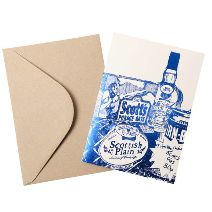 Scottish Breakfast foil greetings card