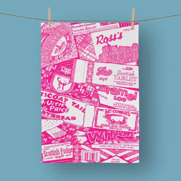 Sweet Tooth tea towel by Gillian Kyle