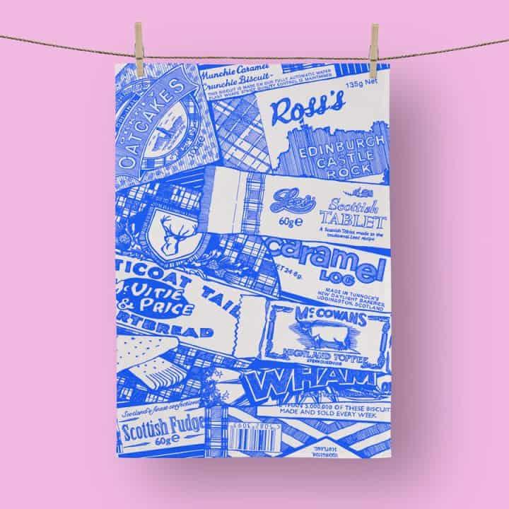 Sweet Tooth tea towel by Gillian Kyle