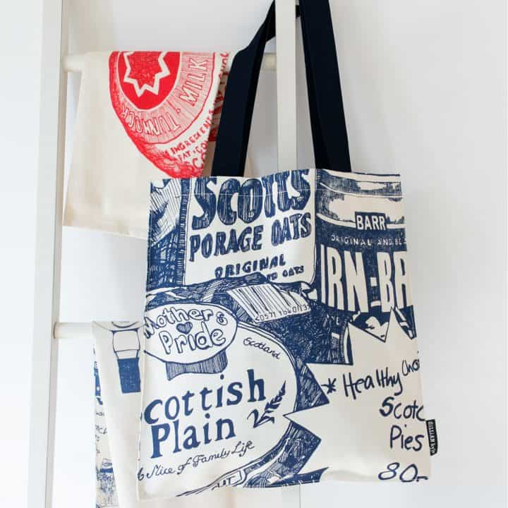 Scottish breakfast Heavyweight Tote Bag by Gillian Kyle