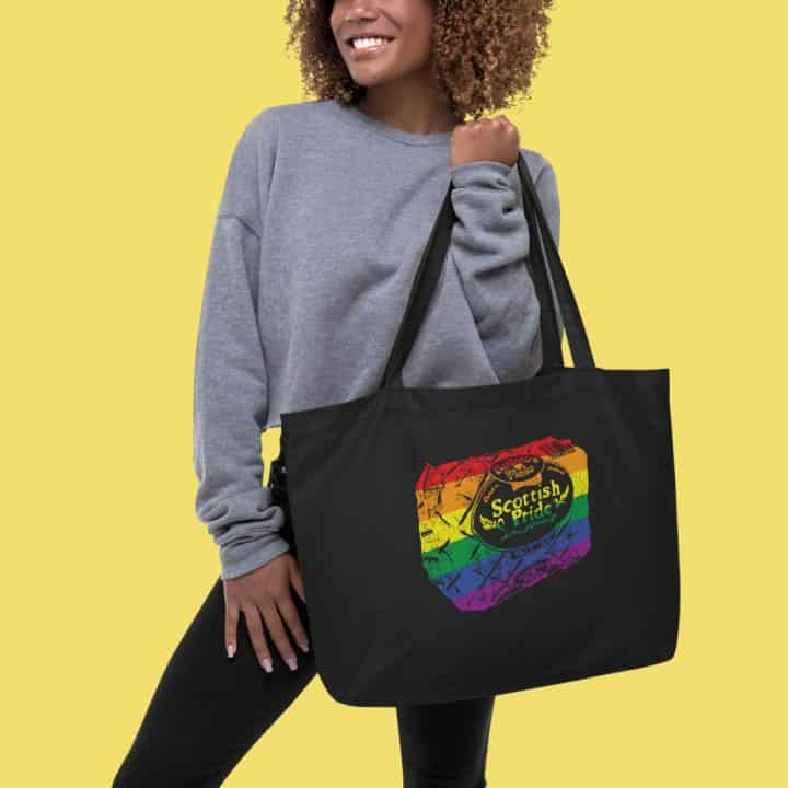 Scottish pride rainbow maxi tote
