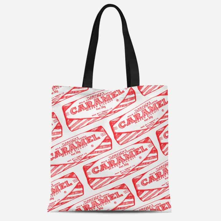 Tunnock's Caramel Repeat Heavyweight Tote by Gillian Kyle