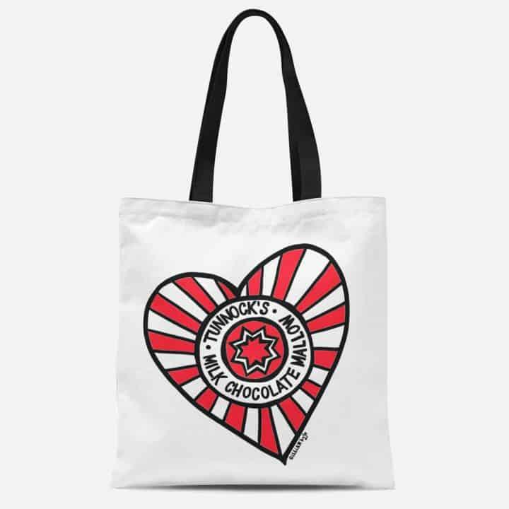 Tunnock's Heart Tote Bag by Gillian Kyle