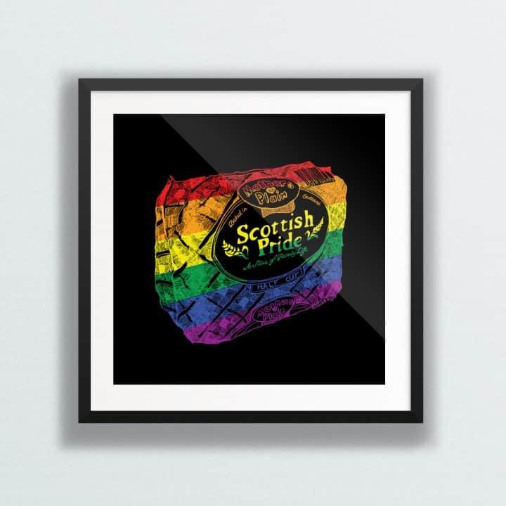 Scottish Pride Rainbow Print by Gillian Kyle