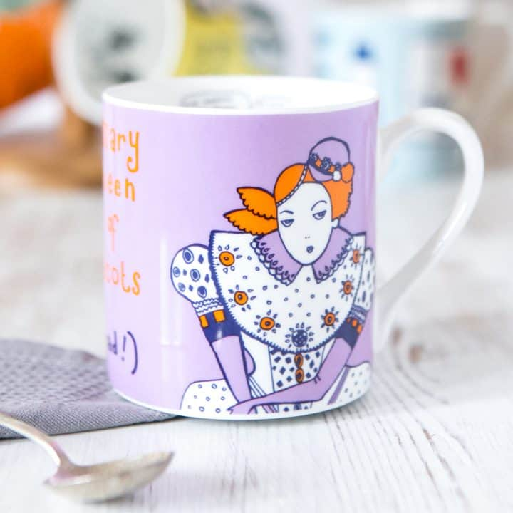 Mary Queen of Scots China Mug by Gillian Kyle